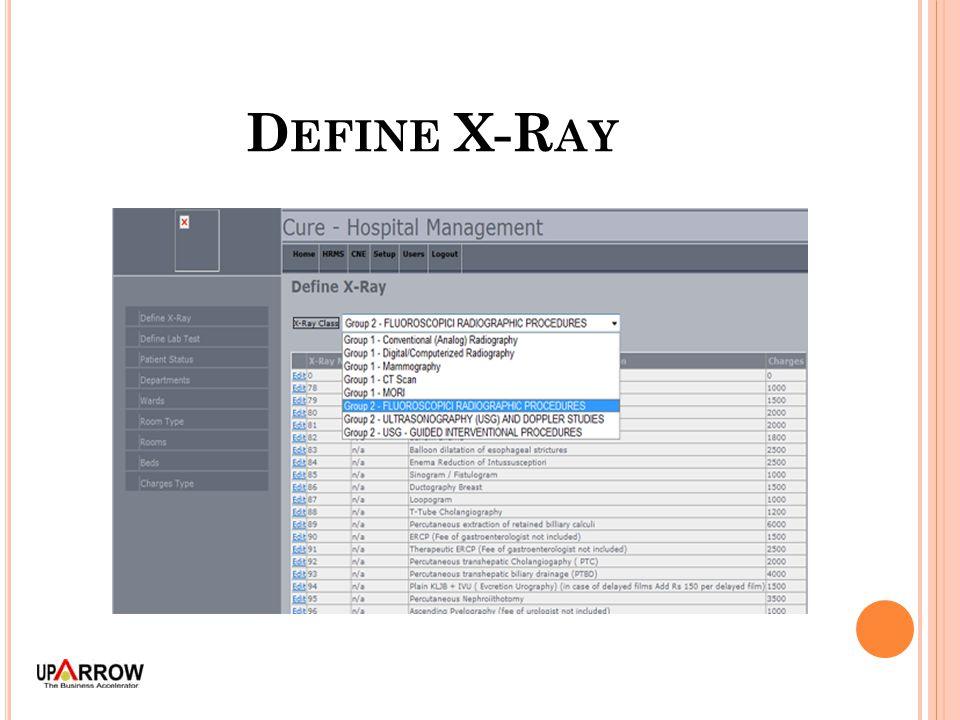 D EFINE X-R AY