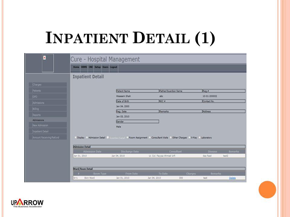 I NPATIENT D ETAIL (1)