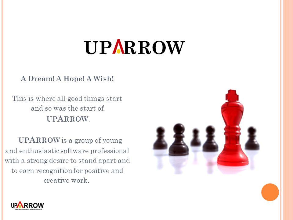 UP RROW A Dream. A Hope. A Wish.