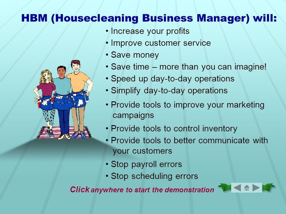 19. Invoice Customer Bill your customers in advance, in arrears or at the time of the cleaning…