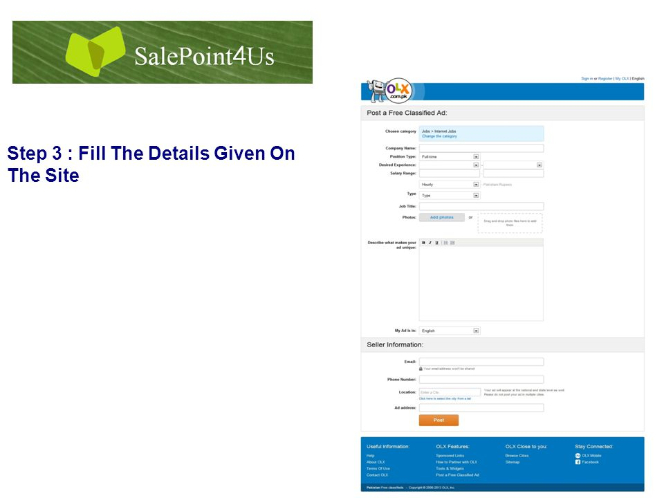 Step 3 : Fill The Details Given On The Site