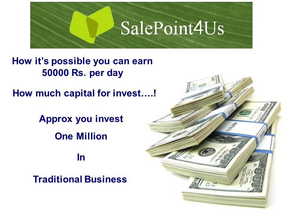 How it's possible you can earn 50000 Rs. per day How much capital for invest…..