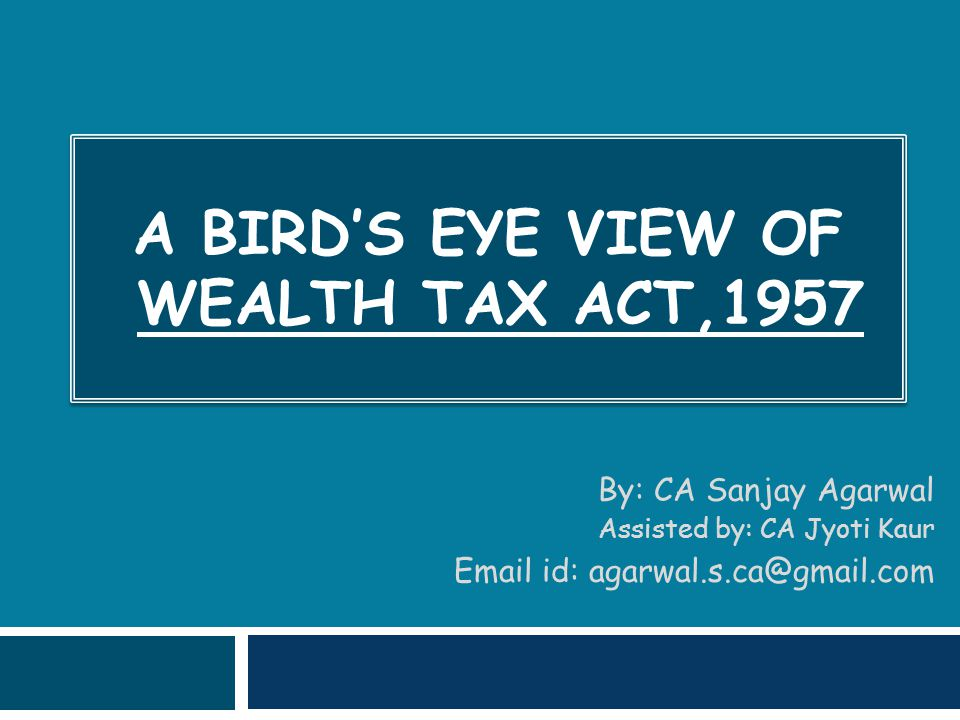 52  If the land is adjacent to a commercial building & useful to it, then it is not taxable under Wealth Tax.