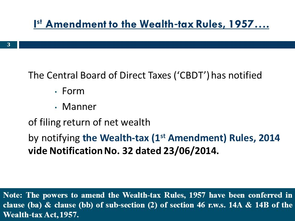104 SectionParticulars 14(2)Wealth tax return can not be filed if Net Wealth is below taxable limit.