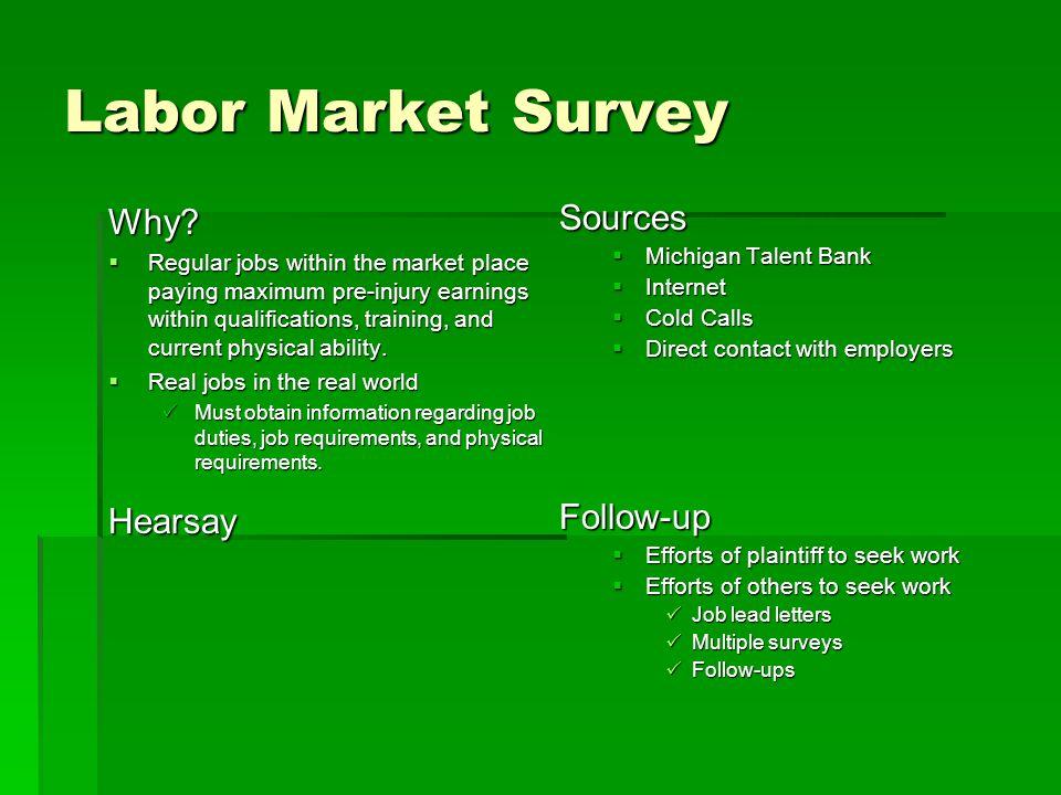 Labor Market Survey Why.