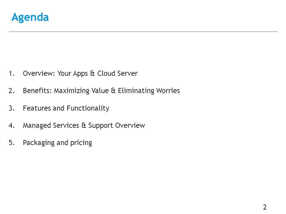 Overview: Your Apps & Cloud Server 3