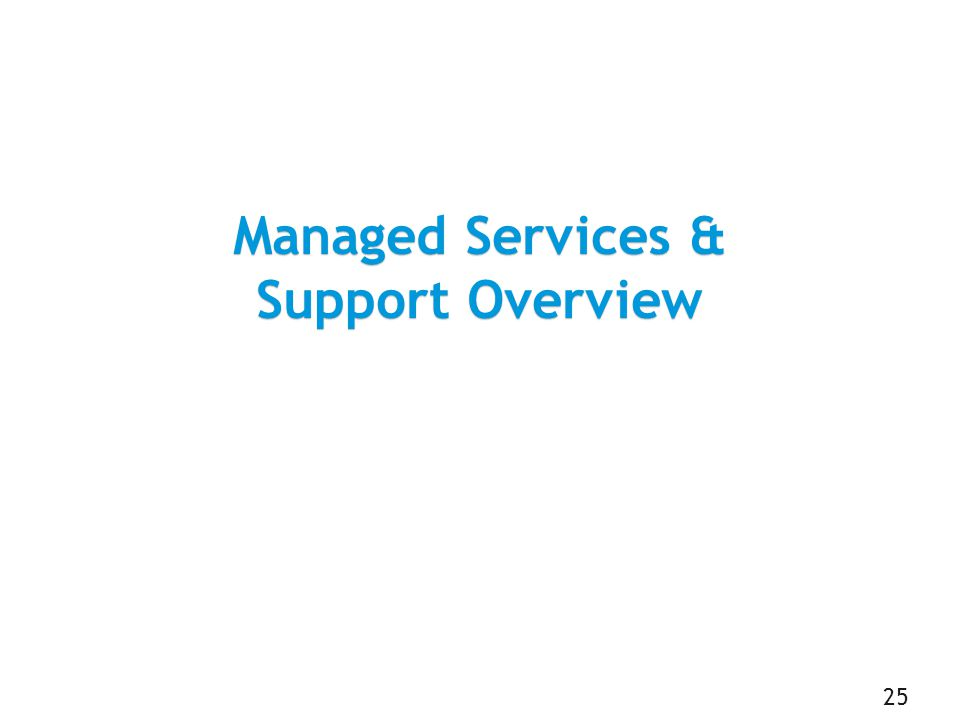 Managed Services & Support Overview 25