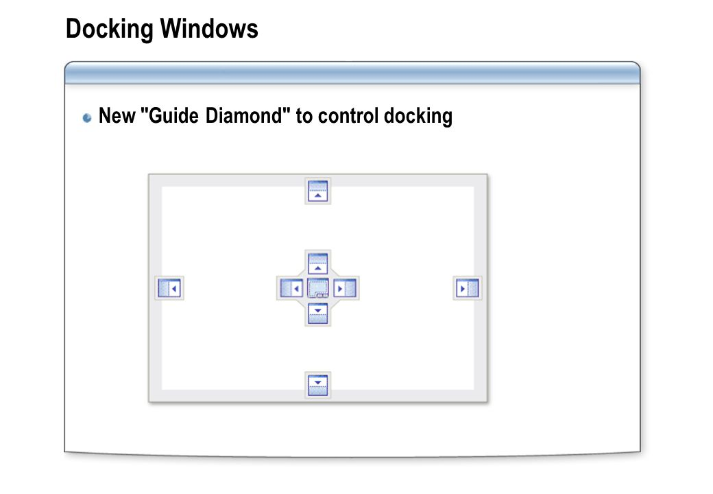 Docking Windows New Guide Diamond to control docking
