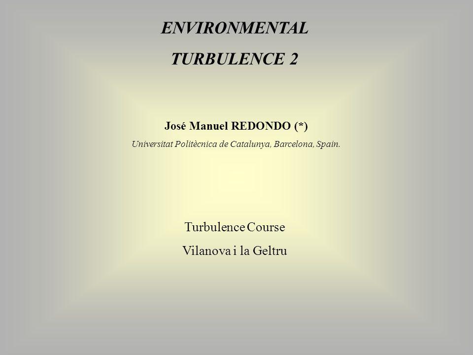 ENVIRONMENTAL TURBULENCE 2 José Manuel REDONDO (*) Universitat Politècnica de Catalunya, Barcelona, Spain.
