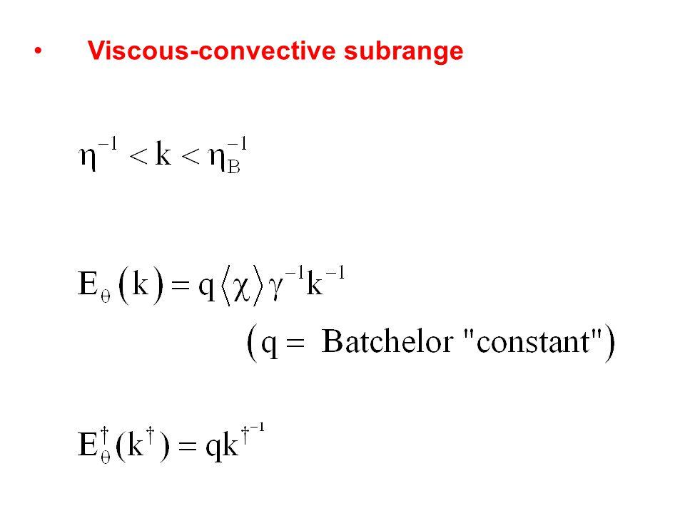 Viscous-convective subrange