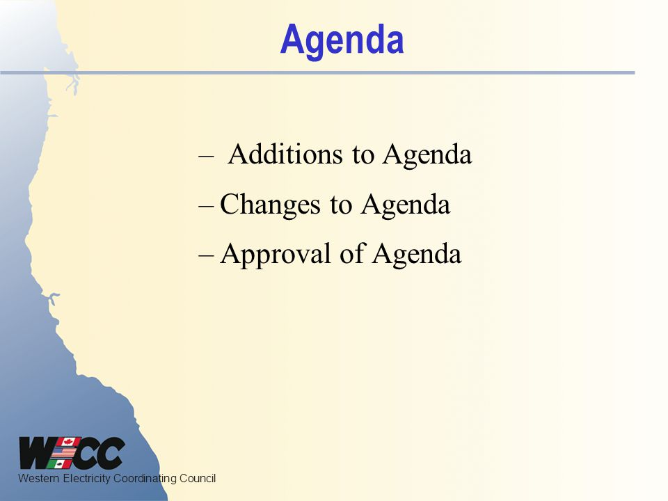 Western Electricity Coordinating Council Marketing WG Activities Follow pertinent NAESB Activities.