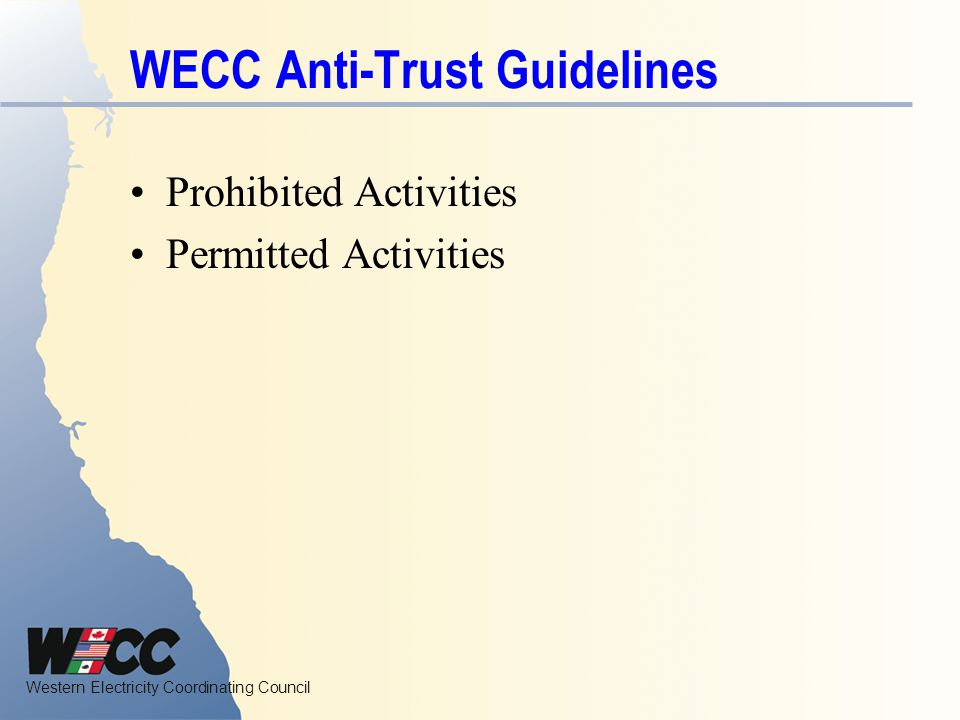 Western Electricity Coordinating Council JISWG Update Industry registry: Current registry is the NERC TSIN.