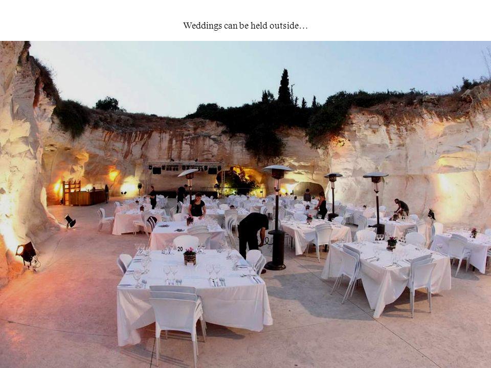Weddings can be held outside…