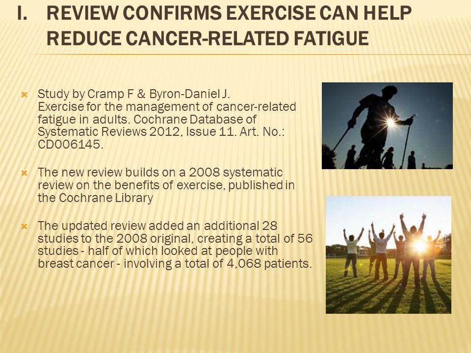  Study by Cramp F & Byron-Daniel J.
