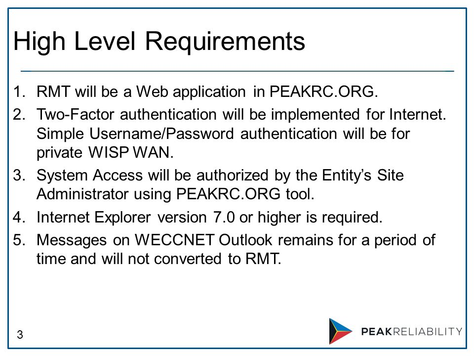 3 1.RMT will be a Web application in PEAKRC.ORG.
