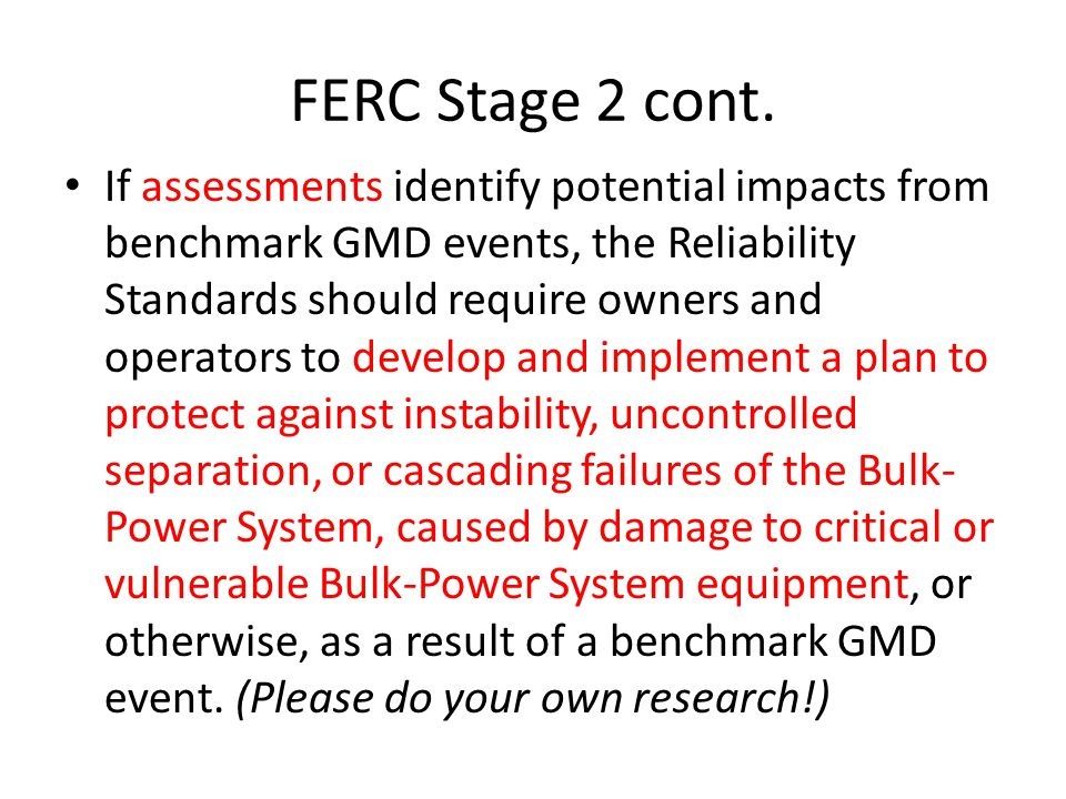 FERC Stage 2 cont.