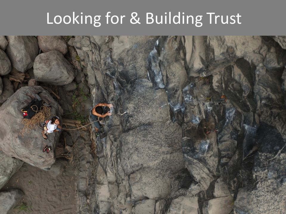 Looking for & Building Trust
