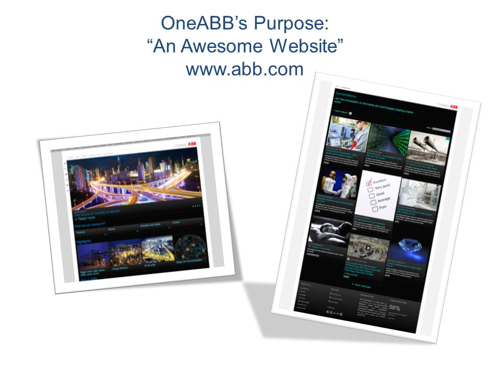 OneABB's Purpose: An Awesome Website