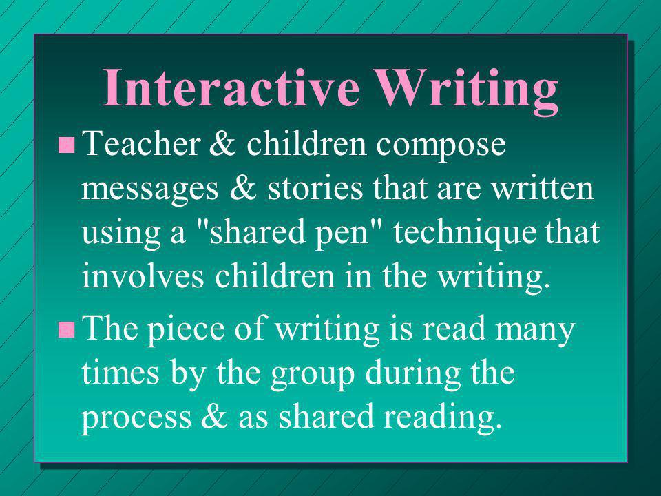 Independent Writing n n Values: ¬ ¬ Provides opportunities for the independent production of written text   Provides chance to use writing for different purposes across the curriculum