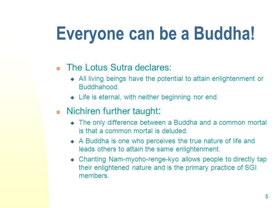 5 Everyone can be a Buddha.