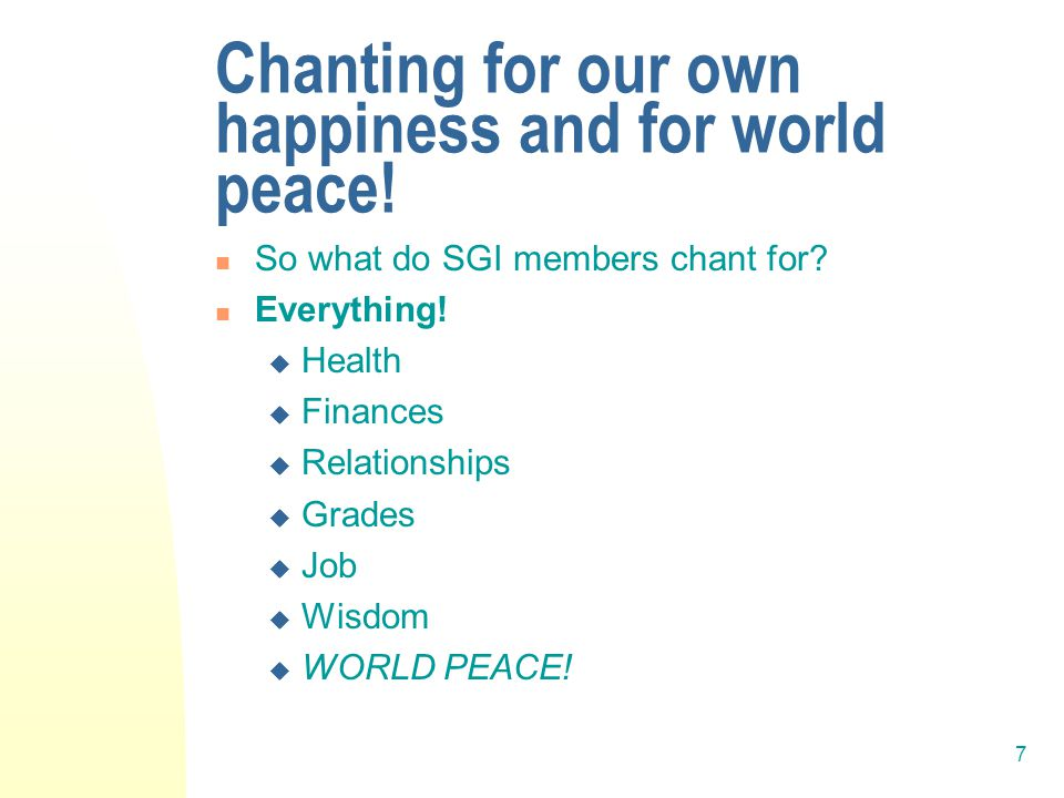 8 Happiness through fulfillment of desires.