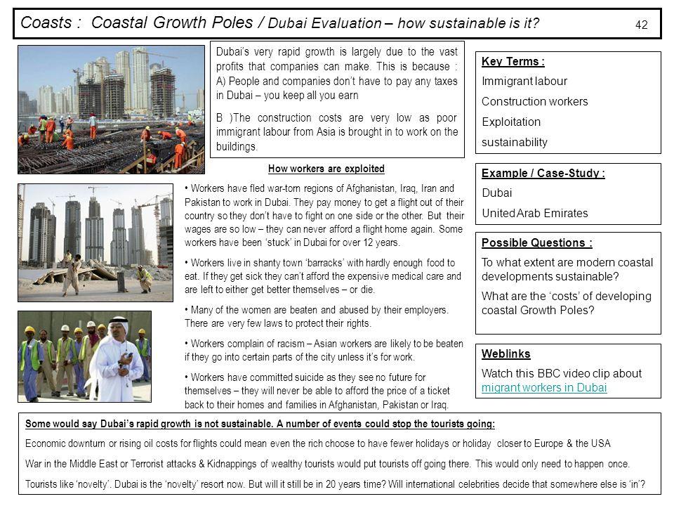Coasts : Coastal Growth Poles / Dubai Evaluation – how sustainable is it.