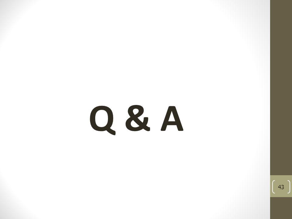 Q & A 43