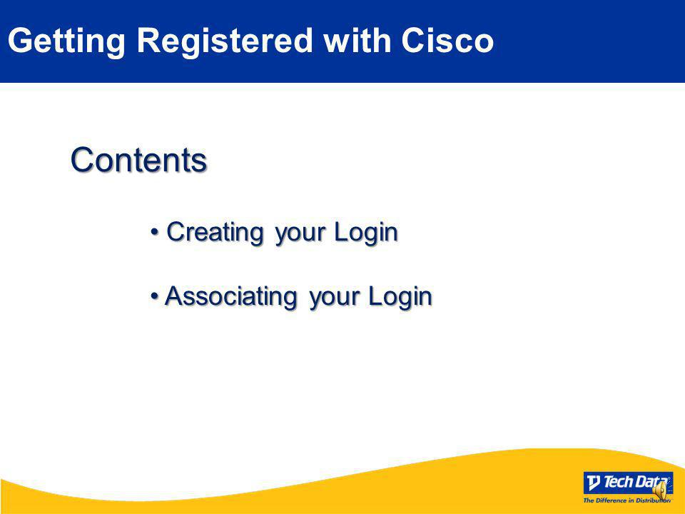 Getting Registered WithCISCO