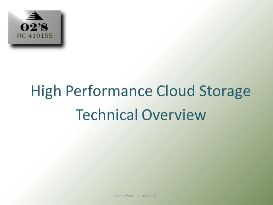 High Performance Cloud Storage Technical Overview