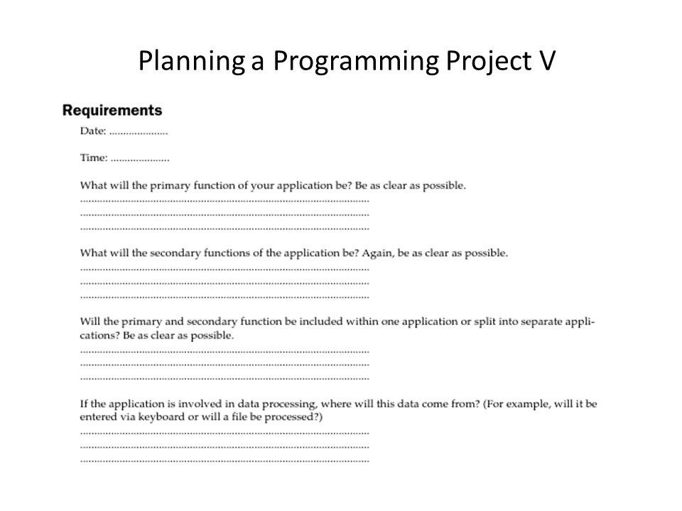 Programming a Programming Project IX Tweak the Code Final Testing