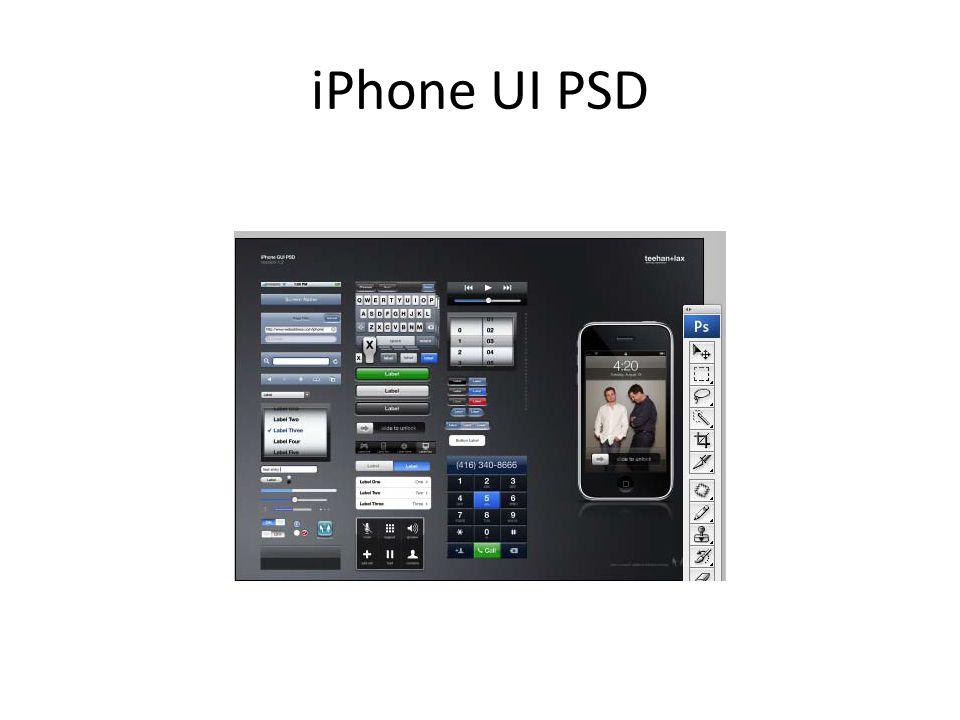 iPhone UI PSD