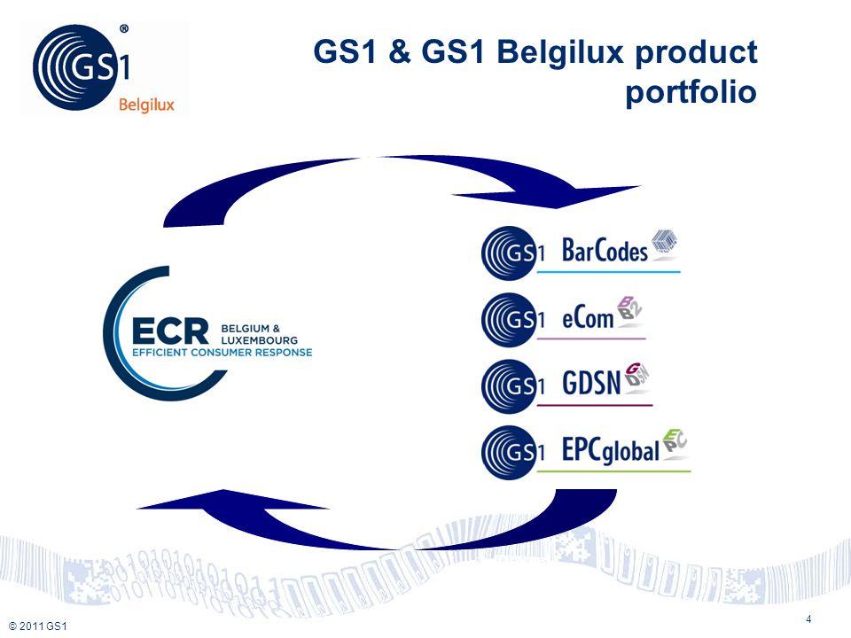 © 2010 GS1 © 2011 GS1 GS1 & GS1 Belgilux product portfolio 4