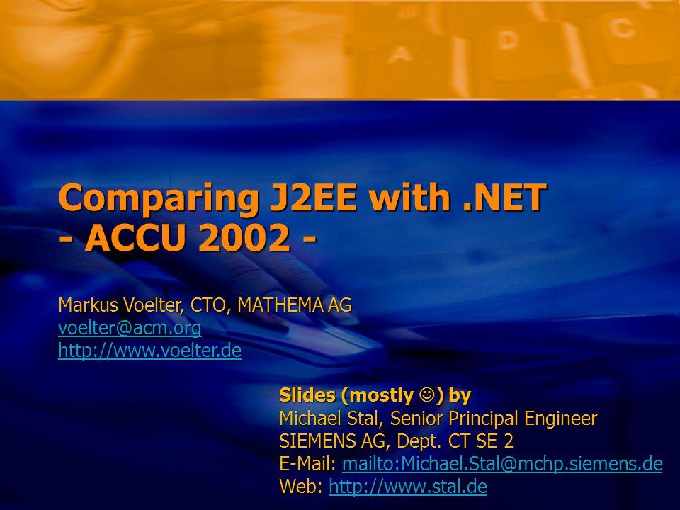 Markus Voelter/Michael Stal – Comparing J2EE with.NET Folie 42 Deployment