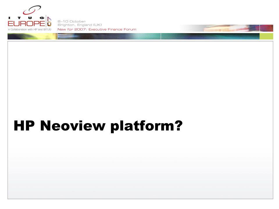 HP Neoview platform