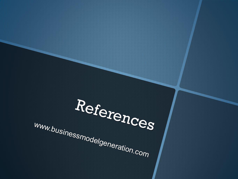 References www.businessmodelgeneration.com