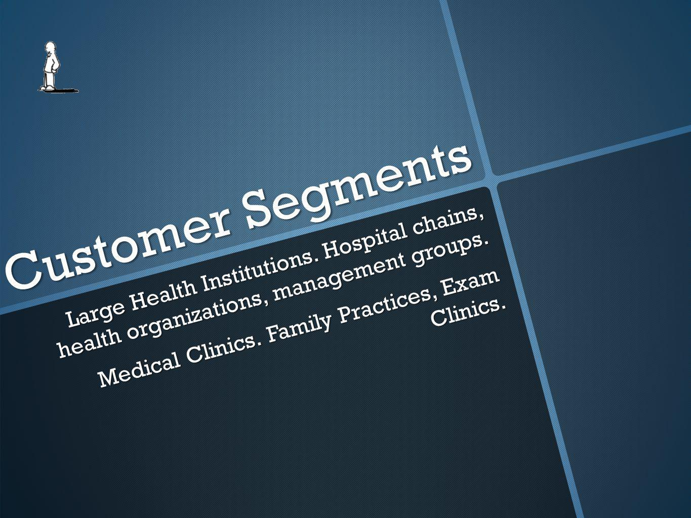 Customer Segments Large Health Institutions.