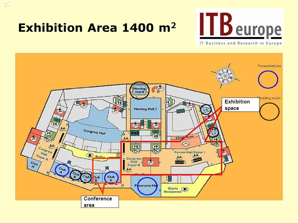 Conference area Exhibition space Exhibition Area 1400 m 2
