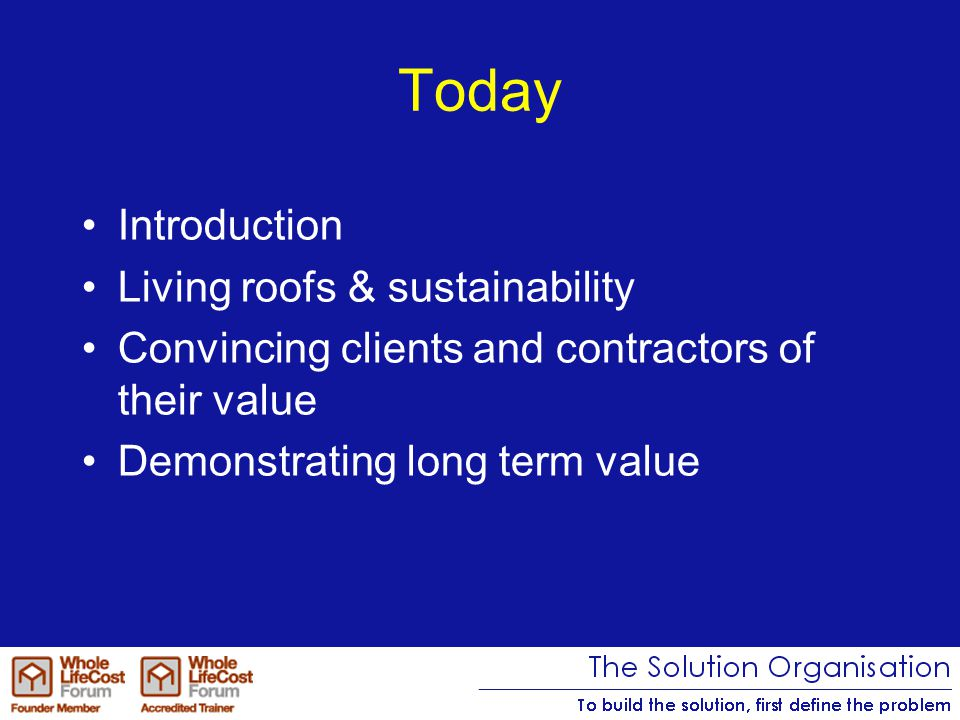 Brad Bamfield MD The Solution Organisation Chairman The Whole Life Forum B.Bamfield@thesolutionorganisation.com 07803 133110