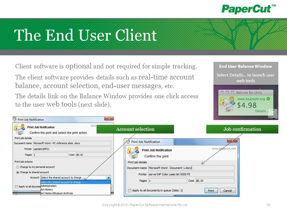 Client software is optional and not required for simple tracking.