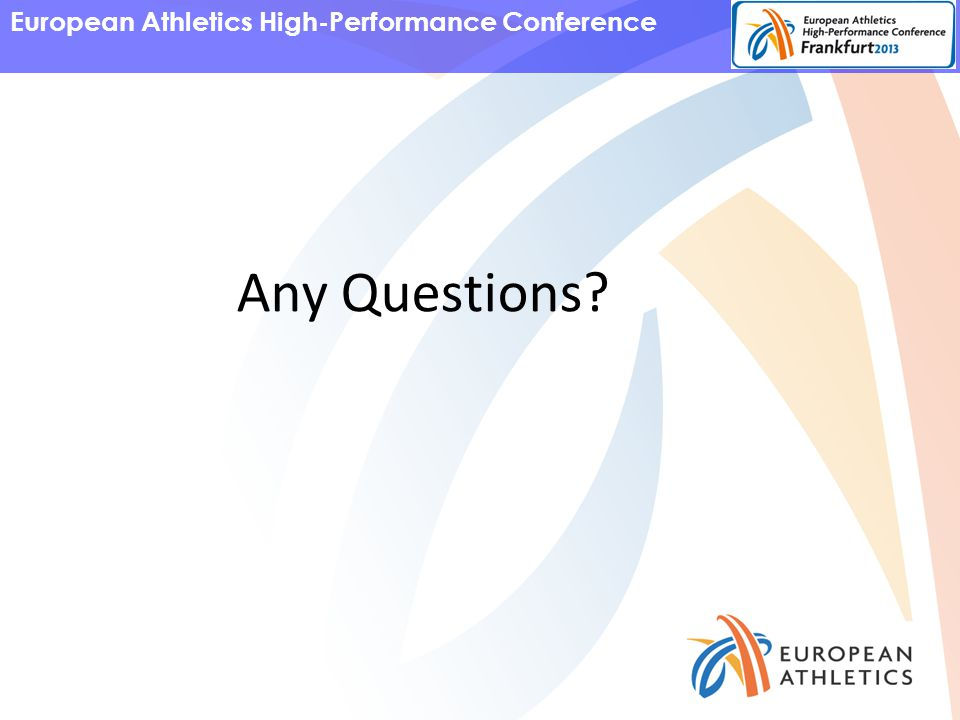 European Athletics High-Performance Conference Any Questions