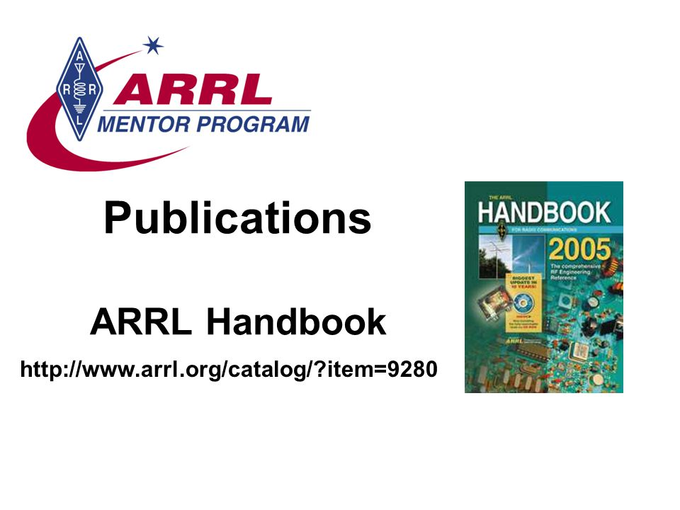 Publications ARRL Handbook   item=9280