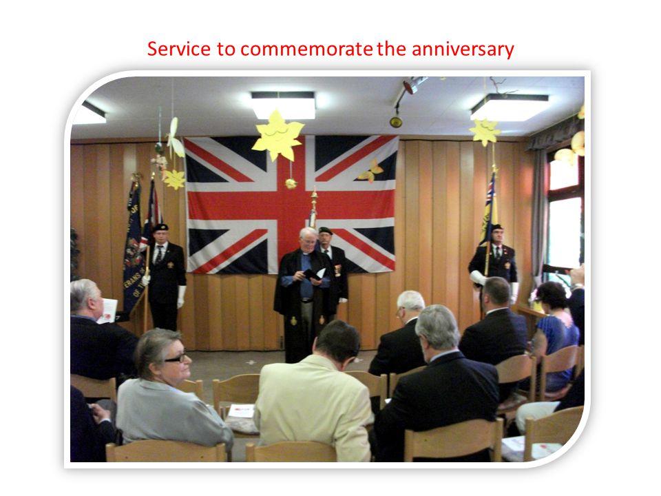 Service to commemorate the anniversary