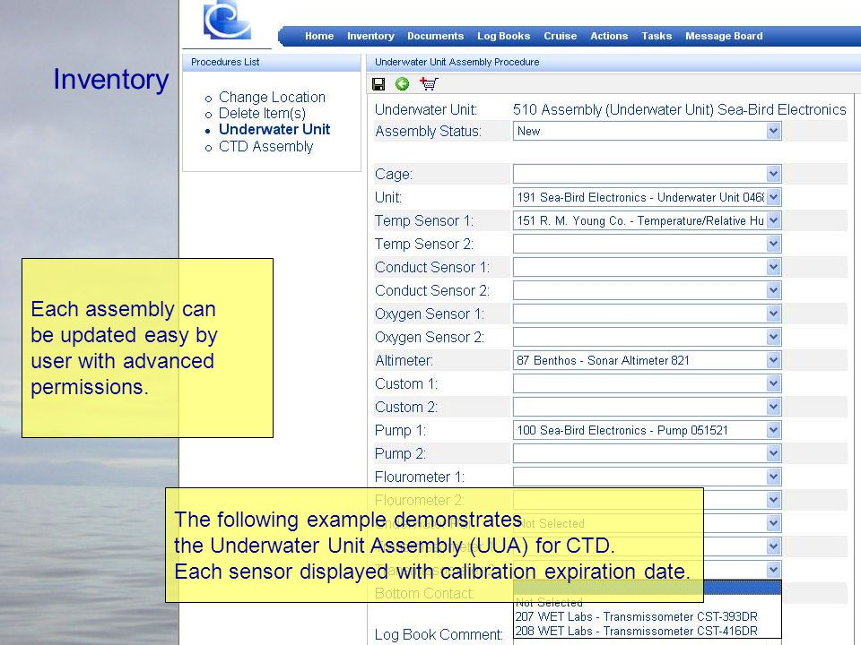 Inventory – Assembly Assembly is permitting the user to group various items in the system under single ID.