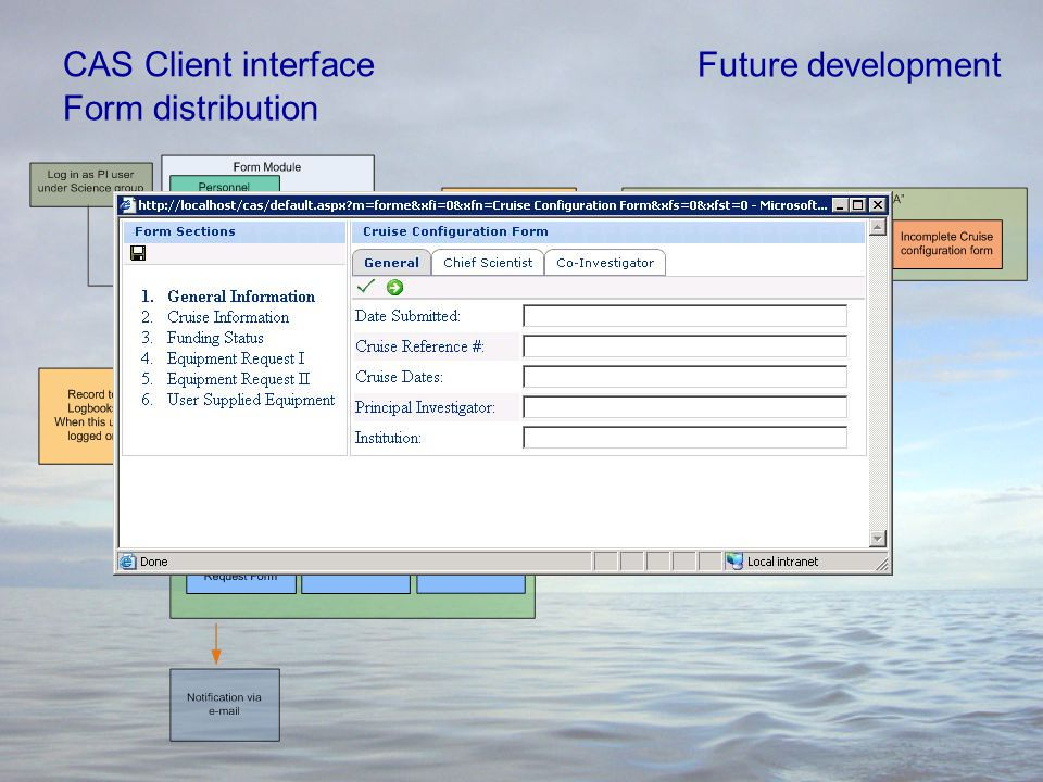 CAS Client interface Form distribution Future development