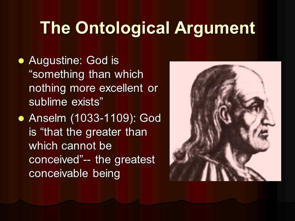 Anselm's Argument Even the Fool...