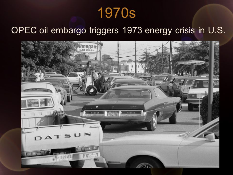 1970s OPEC oil embargo triggers 1973 energy crisis in U.S.