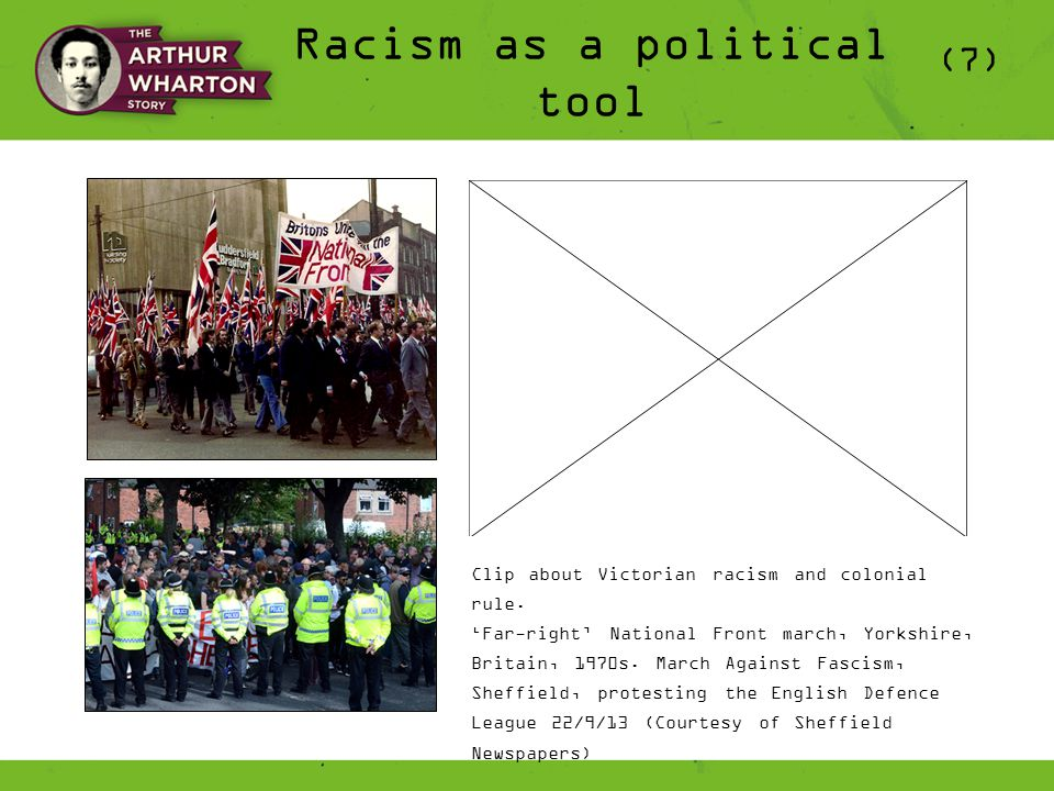 Racism as a political tool (7) Clip about Victorian racism and colonial rule.