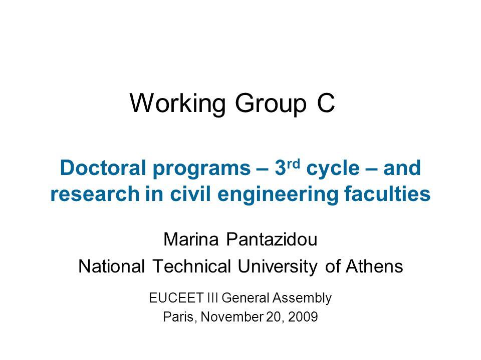Please visit! http://euceet.eu/  Workgroups  Group C