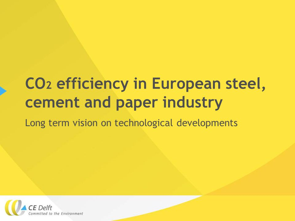 CO 2 efficiency in European steel, cement and paper industry Long term vision on technological developments