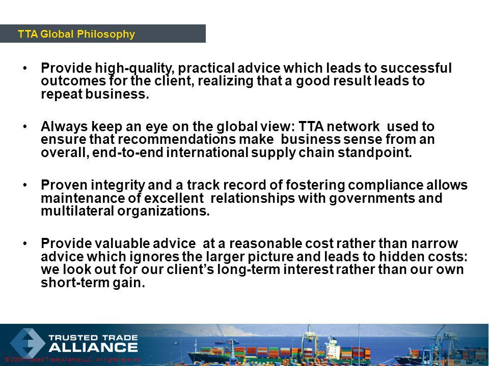 © 2009 Trusted Trade Alliance LLC.